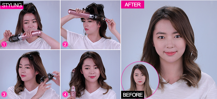 Volumizing long hair